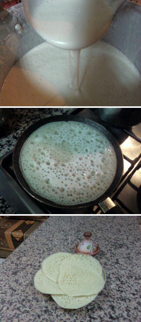 Stap voor stap recept foto's om marokkaanse baghrir pannenkoeken te maken