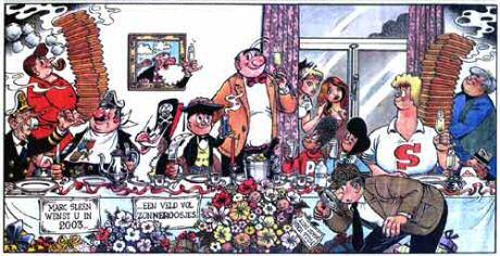 Brusselse wafels recepten van Piet Huysentruyt, Jeroen Meus en Sofie Dumont zoals voor de wafelenbak op het einde van elk stripverhaal van Nero