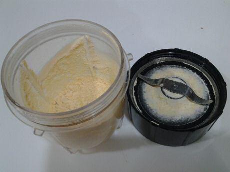 Zelf gemalen kikkererwtenmeel, besan, gram meel of garbanzo meel